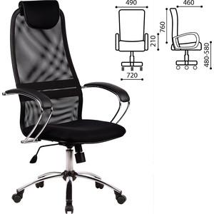 Кресло офисное Метта BK-8CH ткань-сетка, хром, черное 80364 hantek 1008c 8ch pc usb automotive diagnostic digital oscilloscope daq program generator 8ch 2 4msa s vehicle teste