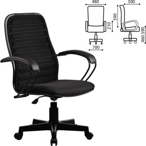 Кресло офисное Метта CP-5PL с подлокотниками, ткань-сетка, черное 82160 vitaluce v1154 5pl