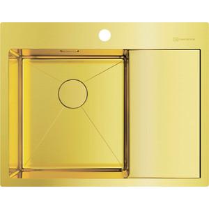 Мойка кухонная Omoikiri Akisame 65-LG-L, 650*510, светлое золото (4973083) мойка кухонная omoikiri akisame 78 gm r 4973100