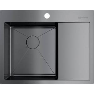 Мойка кухонная Omoikiri Akisame 65-GM-L, 650*510, вороненая сталь (4973097) кухонная мойка вороненая сталь omoikiri ashino 49 gm