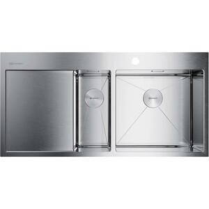 купить Мойка кухонная Omoikiri Akisame 100-2-IN-R, 1000*510, нержавеющая сталь (4973547) по цене 38888 рублей