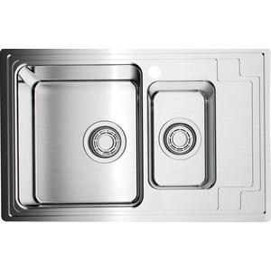 Мойка кухонная Omoikiri Mizu 78-2-L, 780*480, нержавеющая сталь (4973012)