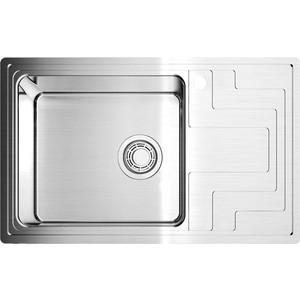 Мойка кухонная Omoikiri Mizu 78-L,780*480, нержавеющая сталь (4973010) мойка кухонная omoikiri mizu 78 l 780 480 нержавеющая сталь 4973010