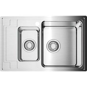 Мойка кухонная Omoikiri Mizu 78-2-R, 780*480, нержавеющая сталь (4973004) стоимость