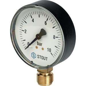 Манометр STOUT радиальный Dn 80 мм 1/2 (SIM-0010-801015)