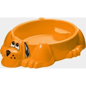 Песочница-бассейн Marian Plast (Palplay) Собачка (оранжевый) 373 песочницы palplay marian plast песочница бассейн собачка крышка