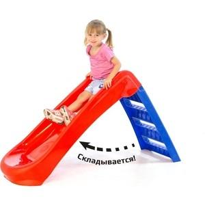 Горка Marian Plast (Palplay) Малыш (красный, синий) 718 песочница бассейн marian plast palplay лодочка розовый 308