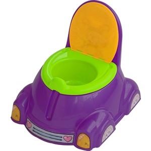 Горшок детский Marian Plast (Palplay) с крышкой (фиолетовый, зеленый, оранжевый) 531 песочница бассейн marian plast palplay лодочка желтый 308