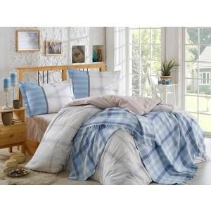 Набор для спальни Hobby home collection Carmela покрывало + КПБ Евро поплин бежевый (1501001416) кпб cl 173