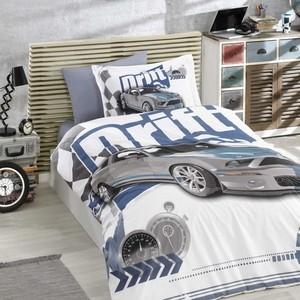 Комплект постельного белья Hobby home collection 1,5 сп, поплин, Drift синий (1501001752)