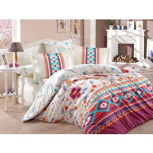 Комплект постельного белья Hobby home collection 1,5 сп, поплин, Francesca бордовый (1501001577)