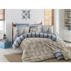 Комплект постельного белья Hobby home collection 1,5 сп, поплин, Marinella голубой (1501001260) комплект постельного белья hobby home collection 1 5 сп поплин flora голубой 1501001088