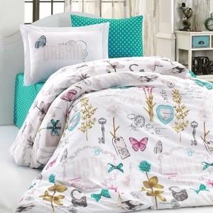 Комплект постельного белья Hobby home collection 1,5 сп, поплин, Rossella зелёный (1501001803)