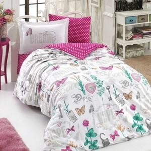 Комплект постельного белья Hobby home collection 1,5 сп, поплин, Rossella фуксия (1501001802) shagovita фуксия