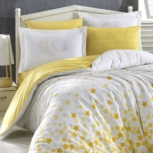 Комплект постельного белья Hobby home collection 1,5 сп, поплин, Star'S жёлтый (1501001771) водолазка pettli collection pettli collection pe034ewvwc32