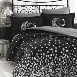 Комплект постельного белья Hobby home collection 1,5 сп, поплин, Star'S чёрный (1501001763) комплект евростандарт hobby home collection ilya