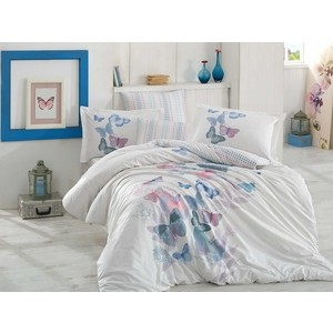 Комплект постельного белья Hobby home collection 1,5 сп, поплин, Sueno зелёный (1501001581)
