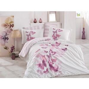 где купить Комплект постельного белья Hobby home collection 1,5 сп, поплин, Sueno лиловый (1501001580) по лучшей цене