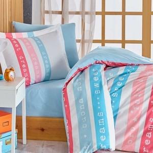 Комплект постельного белья Hobby home collection 1,5 сп, поплин, Sweet Dreams голубой (1501001767) sweet dreams peter