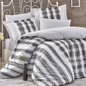 Комплект постельного белья Hobby home collection Евро, поплин, Debora серый (1501001773)