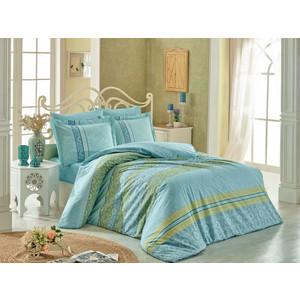 Комплект постельного белья Hobby home collection Евро, поплин, Emma бирюзовый (1501001702) dress emma monti платья и сарафаны приталенные