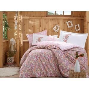 Комплект постельного белья Hobby home collection Евро, поплин, Giulia розовый (1501001326)