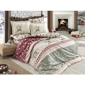 Комплект постельного белья Hobby home collection Евро, поплин, Ludovica бордовый (1501001594)