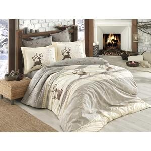 Комплект постельного белья Hobby home collection Евро, поплин, Ludovica кремовый (1501001595)