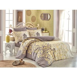 все цены на Комплект постельного белья Hobby home collection Евро, поплин, Mirella кофейный (1501001704) онлайн