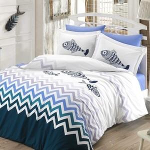 Комплект постельного белья Hobby home collection Евро, поплин, Ocean синий (1501001806)