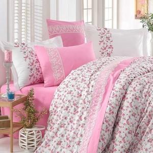 все цены на Комплект постельного белья Hobby home collection Евро, поплин, Luisa белый (1501001348)