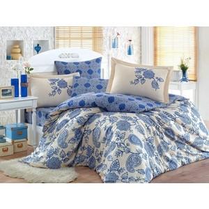 Комплект постельного белья Hobby home collection Евро, сатин, Antonia темно-синий (1501001362) antonia zander блузка