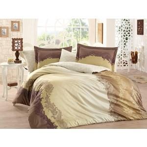 Комплект постельного белья Hobby home collection Евро, сатин, Filomena коричневый (1501001364)