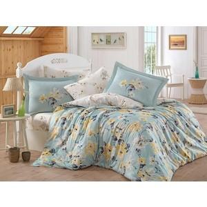 Комплект постельного белья Hobby home collection Евро, сатин, Lavida бирюзово-зелёный (1501001366)