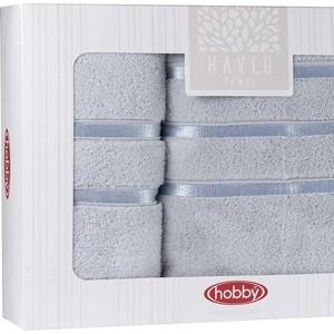 Набор из 2 полотенец Hobby home collection Dolce (50x90/70x140) светло-голубой (1501001819) полотенце махровое hobby home collection lavinya светло пудра 70x140 1501001475