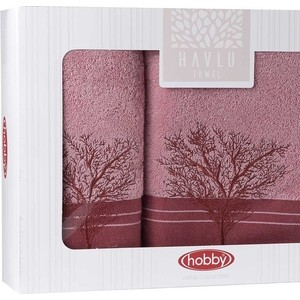 Набор из 2 полотенец Hobby home collection Infinity (50x90/70x140) светло-розовый (1501001831)
