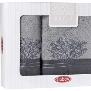 Набор из 2 полотенец Hobby home collection Infinity (50x90/70x140) серый (1501001832) объектив infinity scv 550g 1 3 5 0 50 0 17990