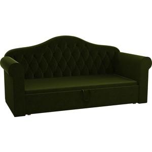 Детская кровать АртМебель Делюкс микровельвет зеленый детская кровать артмебель делюкс микровельвет зеленый