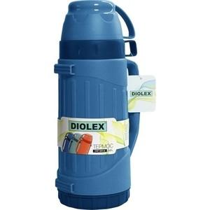 Термос со стеклянной колбой 0.6 л Diolex синий (DXP-600-1-B)