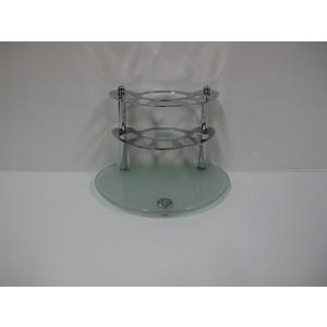 Держатель зубных счеток RainBowL Aqua настольный (стекло) (D0039-9)