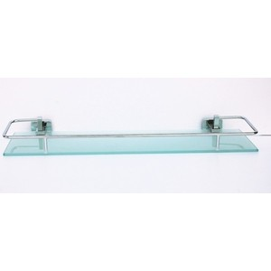 Полка RainBowL Cube стекло 50 см с ограничителем (2753-1) colibri полка cube