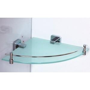Полка RainBowL Cube стекло с ограничителем угловая (2743) colibri полка cube