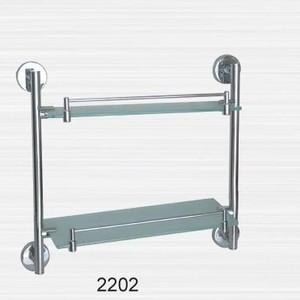 Полка RainBowL Long стекло прямая с ограничителем 2-этажная (D2202) полка для душа 2х этажная прямая с пластиком langberger 75762 хром