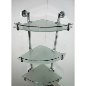 Полка RainBowL Long стекло угловая с ограничителем 3-этажная (D2243-3) кухня угловая беларусь 3 правая