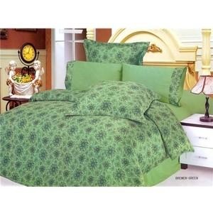Комплект постельного белья Le Vele 2-х сп, сатин/жатый шелк, Bremen Green (743/4) цена