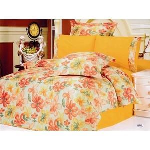Комплект постельного белья Le Vele 2-х сп, сатин/жатый шелк, Ural (743/45) комплект постельного белья le vele 1 5 сп daisy 7715