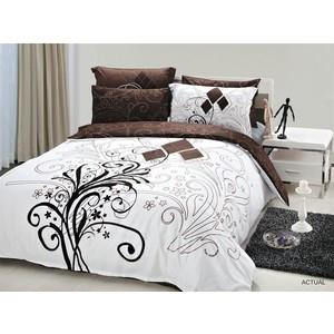 Комплект постельного белья Le Vele 1,5 сп, сатин, Actual (741/38) комплект постельного белья le vele 1 5 сп daisy 7715