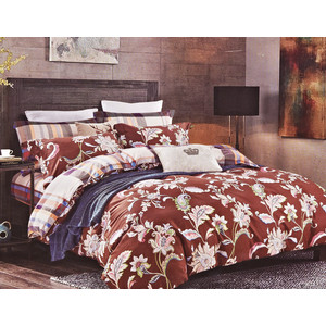 Комплект постельного белья Karna 1,5 сп, сатин люкс, Regata (465/40) цена