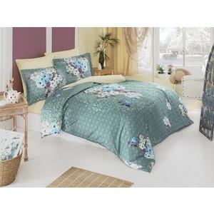 Комплект постельного белья Karna Евро, сатин люкс, Tivol (460/14) комплект белья karna tivol 2 спальный наволочки 50х70