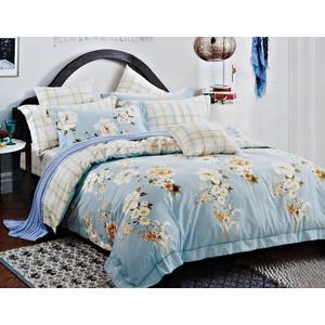 Комплект постельного белья Karna Евро, сатин люкс, Elviro (464/20) марк аврелий 20 евро